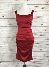 Cache Red Bodycon Dress Sleeveless Woman's Sz 2