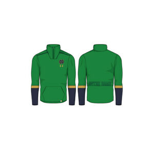 NEW Under Armour 2019 Sideline Knit ¼ Zip Green Notre Dame Mens Large Pullover