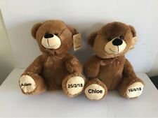 Teddy Bear Personalised Newborn Gift Baby Gift Christening Teddy Brown Alvin