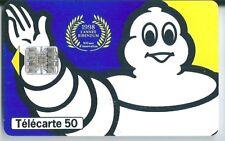 Télécarte carte téléphonique 50 1998 l'année Bibendum Michelin
