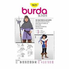 Burda Sewing Pattern 9659 Boys Childs Musketeer Costume Size 4-10