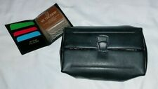 vintage ST THOMAS  Black Leather Flip Top Valet-Kit Travel Bag & Gift