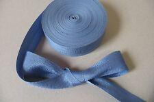 Vintage Ribbon. Mid Blue.  c.1930. 35mms. x 5 Metres