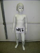 Chalk White Fiberglass Child Mannequin with Base- WK#6
