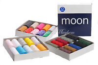 MOON/COATS - ASSORTED/MIX/BLACK/WHITE -120s POLYESTER OVERLOCKING SEWING THREAD