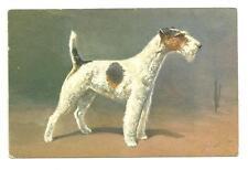 J. Rivst Animal Dog Postcard No.95 Fox Terrier Artist Signed