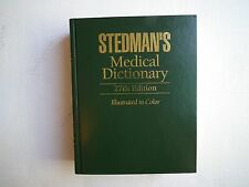 Medical Dictionary by Stedman (1995, Hardcover)