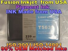 Compatible Epson Stylus Pro 7800 9800 T563500 Light Cyan pigment ink lc not oem