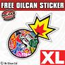 XL STICKER BOMB sticker bombing sticker euro jdm 297mm high