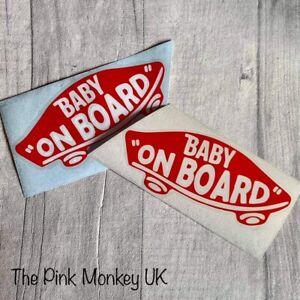 Baby On Board Skateboard Vehicle Vinyl Sticker Car Van Cars Vans