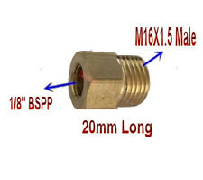 "Pipe Fitting 1/8"" BSPP Female to Metric M16 M16X1.5 Male Brass Adapter P-98"