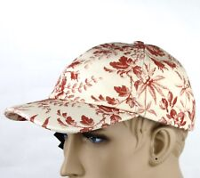 Gucci Beige/Red Canvas Baseball Cap with Floral Print 408793 6461