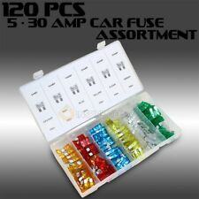 120PC Assorted Car Fuse Auto Trucks SUV's Replacement fuses regular size blade
