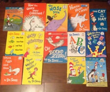 14 Dr. Suess & Cat In The Hat Childrens Books plus 1st edition ON BEYOND ZEBRA