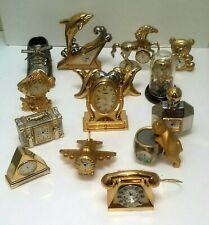 - 14 Timex Collezio Elgin Ronica Minature clock lot collection