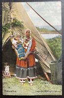 1910s USA Picture Postcard Cover Native American Indian Old Nokomis W Hiawatha