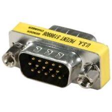 VGA HD15 Male to Male Mini Gender Changer Adapter (2/pk)