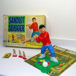 Vintage 1968 Milton Bradley Sandlot Slugger Action Game in Box, Baseball, Works