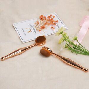 New Beauty Instrument Makeup Brush Multi-functional Base Oval Brush Rose Gold