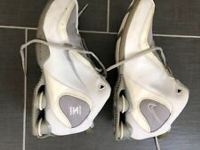 NIKE FLIGHT SHOX 040810 LN2 Womens SZ 10 White Leather MID Basketball Shoes