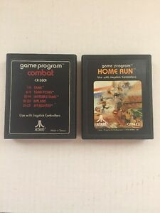 GAME PROGRAM ATARI Combat CX 2601 & Home Run CX 2623