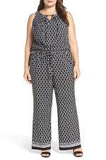 Tahari Print Wide Leg Jumpsuit (Plus Size) Sleeveless, Size 22W, $148, NWT