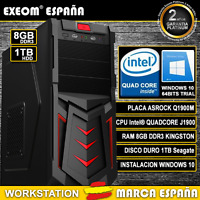 ORDENADOR PC GAMING DE SOBREMESA INTEL QUAD CORE 9,6GHz 8GB RAM 1TB HD HDMI