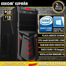 Ordenador Pc Gaming Intel Quad Core 9,6GHz 8GB RAM 1TB HD HDMI De Sobremesa