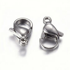 100× 304 Stainless Steel Lobster Claw Clasps Jewelry DIY Necklace Bracelet 12mm