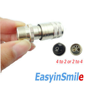 1pcs Dental Adapter High Speed Handpiece Hole Converter Connector 4 - 2 or 2 -4