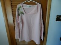 Womans plus size 2x pink pull over sweater by Roaman's