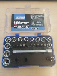 """Draper 16354 1/4"""" Drive 25 Piece Metric Socket & Bit Set 4-13mm missing item"""
