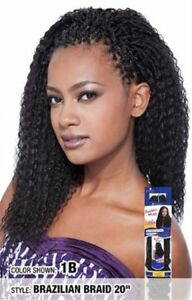 "Freetress Brazilian Braid 20"" Synthetic Crochet Braid Premium Hair Extension"