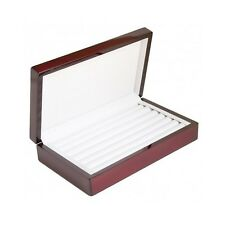 Jewelry Box Wood Display Case Storage Organizer Tray Holder Rings Safe Security