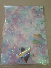 METALLIC ACCENTS GIFT WRAP SET 2 SHEETS PAPER +TAGS - Holo Stars