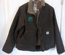 Carhartt Jacket Women Duck Quilted Fleece Lined Brown Coat New