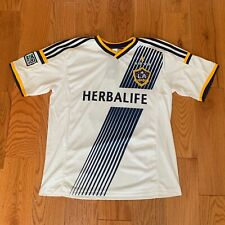 NWT LA Galaxy David Beckham White Soccer Jersey Shirt - Herbalife - Size XL