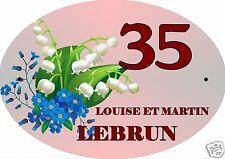 PLAQUE NUMERO DE MAISON ou BOITE AUX LETTRES EXTERIEUR réf 21 choix inscription