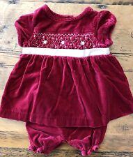 023ec5ba17b Christmas Janie and Jack Baby Girl Newborn 0-3 Months Red Velvet Holiday  Dress