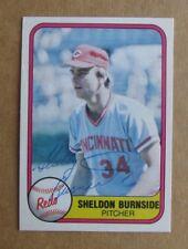 1981 FLEER BASEBALL SHELDON BURNSIDE #220 AUTOGRAPH SIGNED CARD CINCINNATI REDS