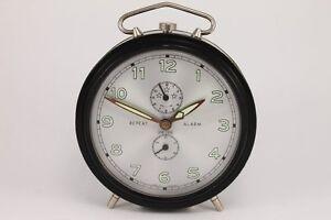 Vintage German PETER Large Repeat Alarm Clock