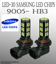 x2 9005 HB3 Samsung LED 30 SMD Super White 6000K Headlight High Beam Bulbs V585