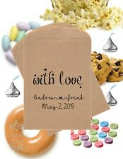 With Love Personalised Wedding Favor Bags Popcorn Candy Favour Bags