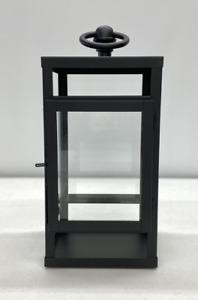 "NEW Pottery Barn Maxwell Handcrafted MINI Lantern~Fits 3x3"" Pillar Candle~Black"