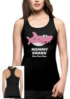 Mommy Shark Doo doo doo Mother Mom Gift Racerback Tank Top Song Dance Clip