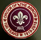 Order of the Arrow OA 100 Years World Crest ring patch - private issue