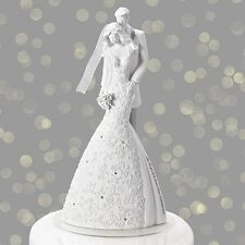 "Gina Freehill Cherish Wedding Cake Topper 9"" Inch"