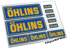 New Ohlins suspension graphics auto moto glossy stickers kit decals pack set A4