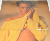 1990 Espirit 2 Page 90s Fashion Model Yellow Sweater Strip Vintage Print Ad