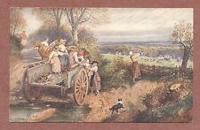 M.Birket Foster, A Peep at the Hounds, children, wagon, fox hunting   RK102